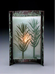 Bamboo by Joan Bazaz (Glass & Copper Lamp)
