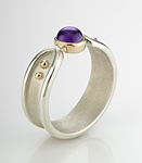 Tudric Ring by Linda Smith (Silver & Stone Ring)
