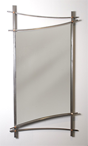 Asian Wall Mirror: Julie Girardini and Ken Girardini: Metal Mirror - Artful Home :  mirror design interior wall