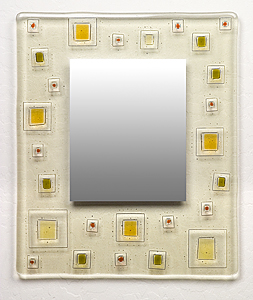 Random Order: Richard Altman: Art Glass Mirror - Artful Home