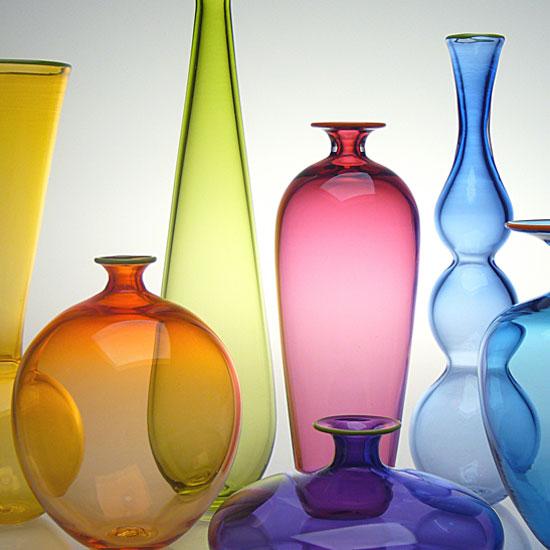 Transparent Miniature Form Study - Glass Vases