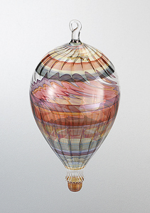 Flight of Fancy: Bandhu Scott Dunham: Art Glass Ornament - Artful Home
