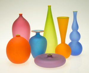 Frosted Miniature Form Study: Nicholas Kekic: Glass Vessels - The Artful Home :  frosted home glass home deco