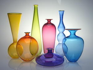 Transparent Miniature Form Study: Nicholas Kekic: Glass Vases - The Artful Home :  glass guild vase blown