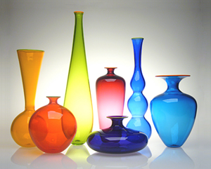 Transparent Forms: Nicholas Kekic: Art Glass Vessels - The Artful Home :  transparent home glass vessels