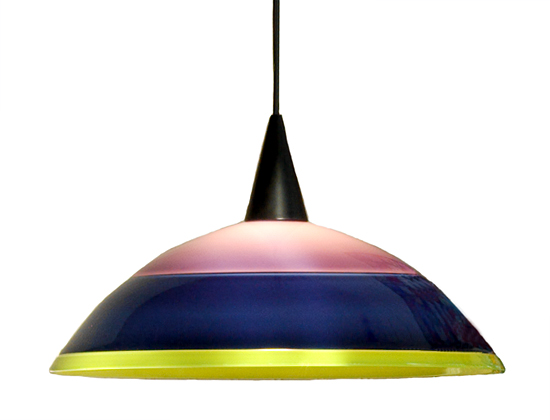 Violet, Midnight Blue & Green Pendant Lamp