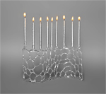 Abstract Menorah by Bandhu Scott Dunham (Art Glass Menorah)