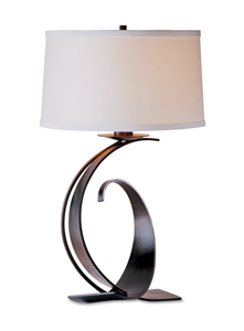 Opposing Curves Lamp: Hubbardton Forge: Metal Table Lamp - Artful Home :  interior design lamp home furniture