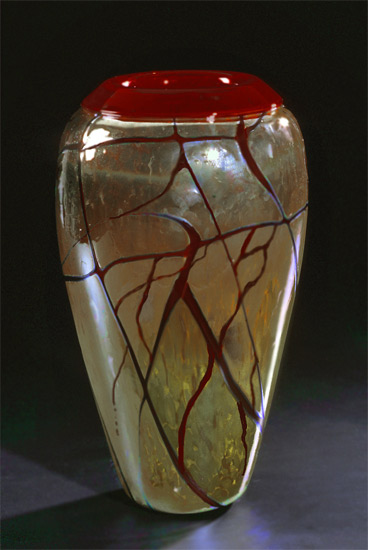 Golden Gem Vase - Garnet