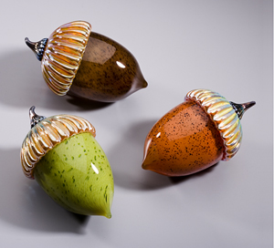 Acorn Paperweight: Michael Cohn and Molly Stone: Art Glass Sculpture - Artful Home :  art glass acorn michael cohn