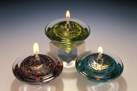 Merveilleux Saturn Oil Lamp By Danielle Blade And Stephen Gartner (Art Glass Oil Lamp)    Artful Home