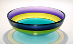 Jumbo Banded Bowl by Michael Trimpol and Monique LaJeunesse (Art Glass Bowl)