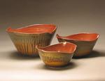 Three Bowl Set by Mike Walsh (Ceramic Bowls)