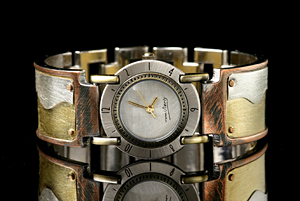 Full Moon Brass Wave: Eduardo Milieris: Silver & Brass Watch - Artful Home :  shopping sterling silver men metal