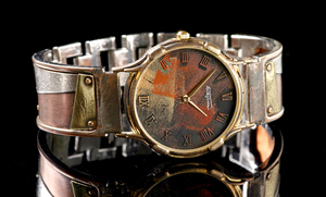 Minstrel Copper: Eduardo Milieris: Silver & Copper Watch - Artful Home :  shopping women silver watch