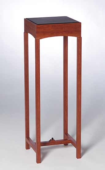Deco Pedestal With Leather Top
