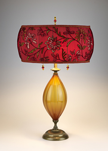Celnah: Caryn Kinzig and Susan Kinzig: Table Lamp - Artful Home :  lamp glass floral design home deco