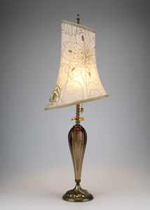 Leyla: Caryn Kinzig and Susan Kinzig: Table Lamp - Artful Home :  lamp floral design home deco shade