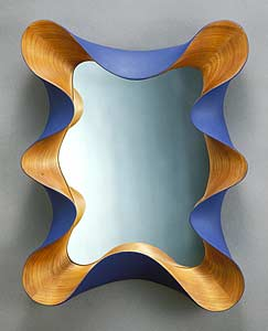 Taffy Mirror: David Hurwitz: Wood Mirror - Artful Home :  mirror wall deco interior decoration