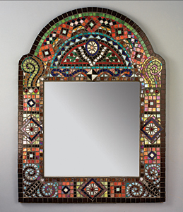 Bohemia: Carl Bryant and Sandra Bryant: Mosaic Mirror - Artful Home :  mirror vain bohemia decoration