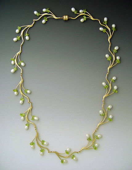 product y yellow gold necklace peridot