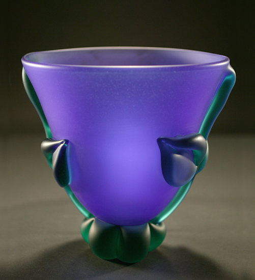 """Cobalt Green Botanical Bowl: Mid-Size"""