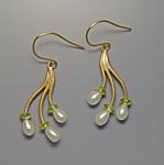 Branch Earrings by Ellen Vontillius (Gold & Pearl Earrings)