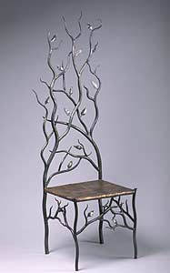 Spring's Throne: Rachel Miller and Tim Miller: Steel & Copper Chair - Artful Home :  interior design steel chair tim miller