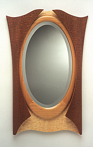 Fairest Mirror Peter Trumbull Crellin Wood Mirror Artful Home from artfulhome.com