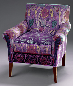 Salon Purple Chair: Mary Lynn O'Shea: Upholstered Chair & Pillow - Artful Home