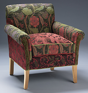 Salon Forest Chair: Mary Lynn O'Shea: Upholstered Chair - Artful Home