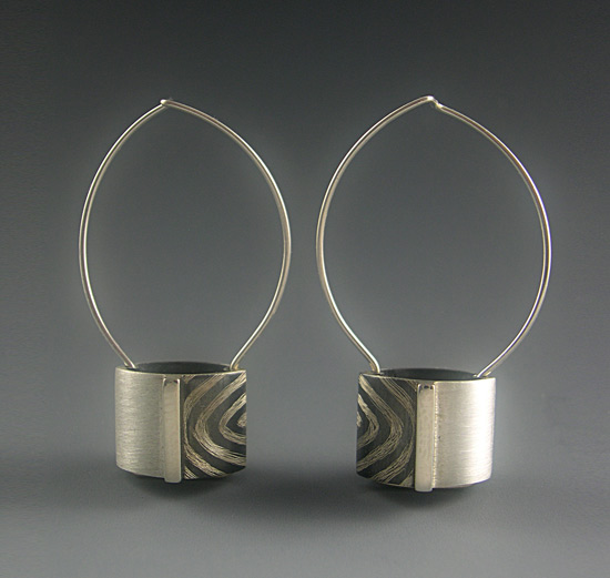 Striped Barrel Earrings