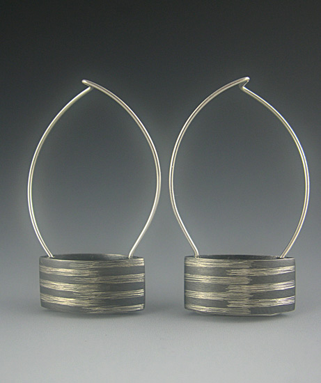 Rectangular Curved Earrings