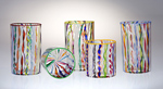 Rocks Cane Cups by Robert Dane (Art Glass Tumblers)