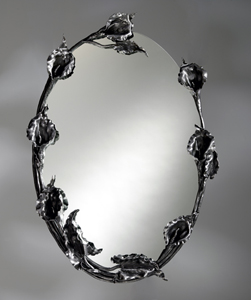 Calla Lily Wall Mirror: Bill Masterpool: Metal Mirror - Artful Home