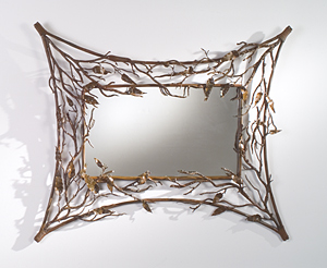 Teresa Wall Mirror: Bill Masterpool: Metal Wall Mirror - Artful Home