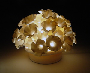Flowers Mini-Light: Lilach Lotan: Ceramic Lamp - Artful Home :  lamp home deco artful home ceramic