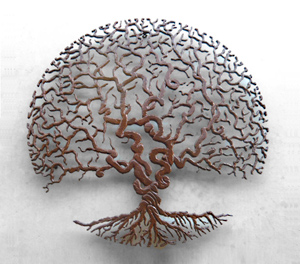 Circle of Life: Bernard Collin: Metal Wall Art - Artful Home :  interior design sculpture style decor