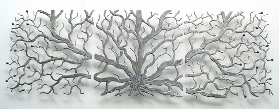 Gorgeous wall art inspired by the natural world in brushed steel from Artful Home.