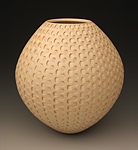 Tan Dovetail Weave by Michael Wisner (Ceramic Vessel)