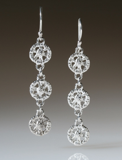 """Triple Lace Circle Earrings"""