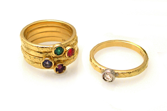 Stackable Ring with Stone