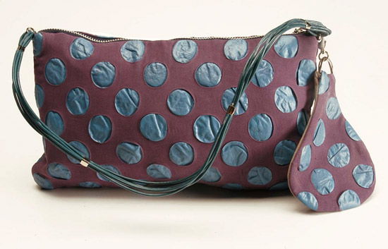 Dot Print Silk Bag