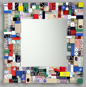 Jewlz: Donald Clark: Mixed Media Mirror - Artful Home :  mirror deco artful donald clark