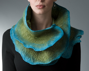 Minnow Rose Scarf: Jenne Giles: Wool and silk scarf - Artful Home :  wool silk scarf women