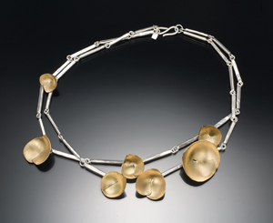 Large Blossom Necklace: Deborrah Daher: Bimetal Necklace - The Artful Home :  shopping necklace designer accessories handmade