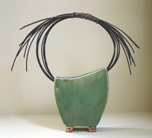 Celadon Vase: Susan Wills: Mixed-Media Basket - The Artful Home :  home nature inspired home deco vase