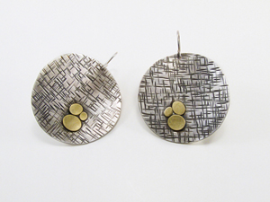 Large Coin Earrings: Martha Sullivan: Silver and Bi-metal Earrings - The Artful Home