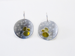 Coin Earrings: Martha Sullivan: Silver & Bi-Metal Earrings - The Artful Home :  sterling silver handmade metal silver