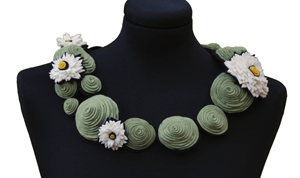 Lilypond Collar: Danielle Gori-Montanelli: Felt Necklace - Artful Home :  shopping necklace handmade felt
